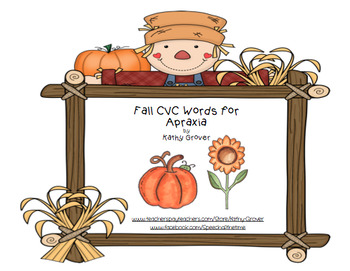Fall CVC Words for Apraxia