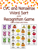 Fall CVC and Nonsense Word Sort or Recognition Game