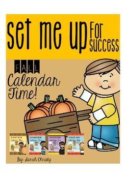 Fall Calendar Bundle {With Editable Accents & Blank Calendar}