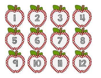 Fall Calendar Number Cards