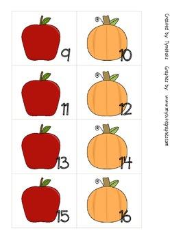 Fall Calendar Number Pattern Pieces