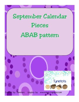 Fall Calendar Number Pattern Pieces