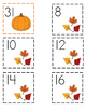 Fall Calendar Numbers (ABAB Pattern)