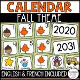 Fall Calendar Numbers for Autumn in September October November