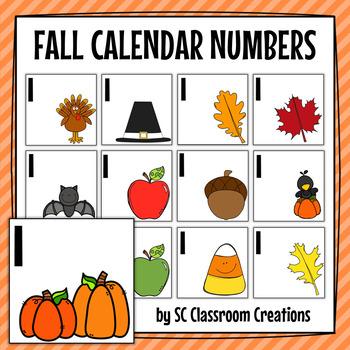 Fall Calendar Cards