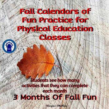 Fall Calendars of P.E. Fun