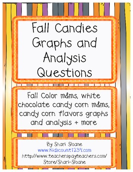 Fall Candies Graphs - Common Core Alligned