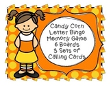 Fall Candy Corn Bingo & Memory Game 6 Boards & Calling Car