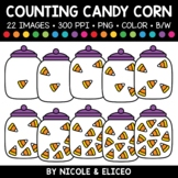 Fall Candy Corn Counting Clipart