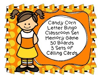 Fall Candy Corn Letter Bingo Harvest Halloween Classroom P