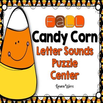 Candy Corn Letter Sound Puzzles Center