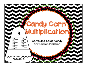 Math Halloween } Candy Corn Multiplication
