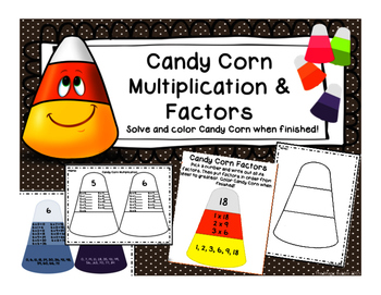 Halloween Math } Multiplication and Factors {Candy Corn Style}
