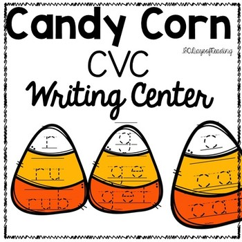 Fall Candy Corn Writing Center for CVC words