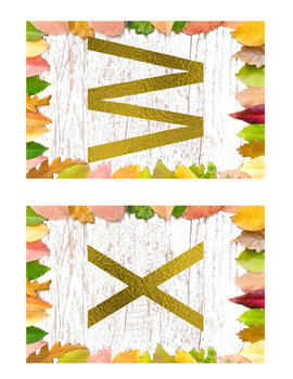 Fall Capital Letters Wall Cards