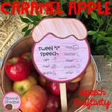 Fall Caramel Apple Speech Craftivity {language & articulation craft}