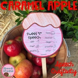 Fall Caramel Apple Speech Craft {language & articulation craftivity}