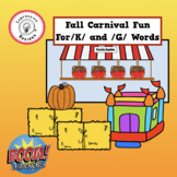 Fall Carnival Fun For /K/ and /G/ Words