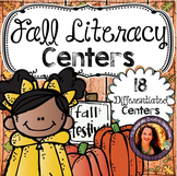 Fall Centers Pack:  18 fall themed centers or activities