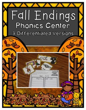 Fall Center ~ Fall Endings (Differentiated)