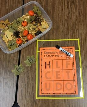 Fall Center Math and Literacy Activities for Preschool PreK Kinder Homeschool