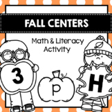 Fall Center Math and Literacy Activities for Preschool Pre