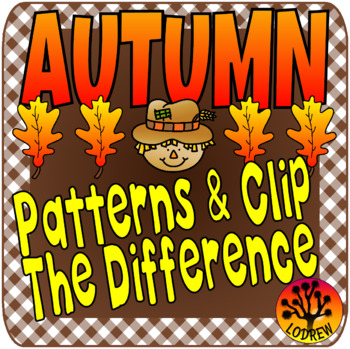 Fall Centers Autumn Activities Patterns Visual Discrimination Clip Cards