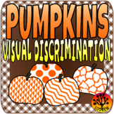 Fall Centers Autumn Activities Visual Discrimination Pumpkin Centers
