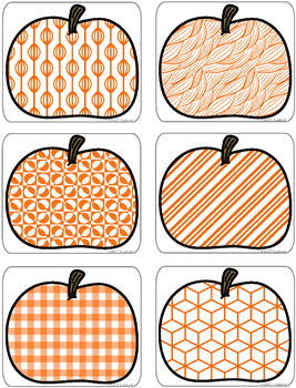 Fall Centers Autumn Activities Visual Discrimination Pumpkin Centers