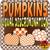 Fall Centers Autumn Activities Visual Discrimination Pumpk