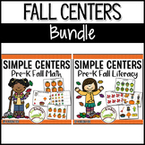 Fall Centers BUNDLE | Math & Literacy | Easy Prep, Simple Centers