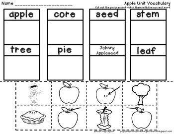 Fall Centers Bundle for Kindergarten (Fall, Apples)