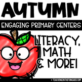 Fall Activities Math Literacy Centers Squirrel Craft