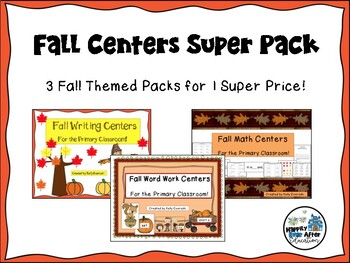 Fall Centers Super Pack For the Primary Classroom!