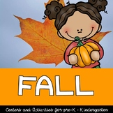 Fall Centers and Activities for Pre-k, preschool, kindergarten, and first grade