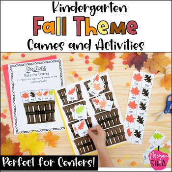 Fall Centers and Games for Kindergarten