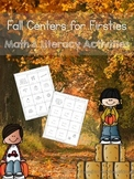 Fall Centers for Firsties:  Math and Literacy Activities