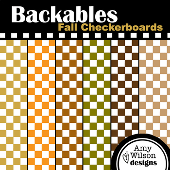 Fall Checkerboard Backables