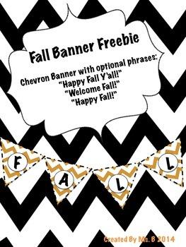 Fall Chevron Banner Freebie