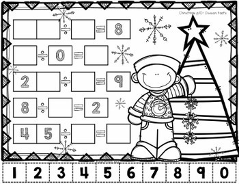 Fall/ Christmas Math Problem Solving Bundle - Tricky Tiles