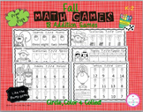 Fall Circle, Color & Collect Math Games (Addition)