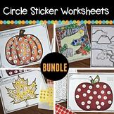 Fall Circle Sticker Sheets (Alphabet, Numbers, Colors, Habitats)