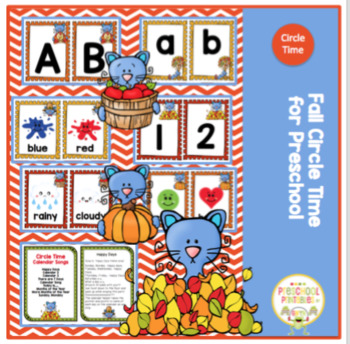 Fall Circle Time Cards for Preschool