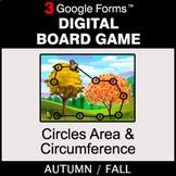 Fall: Circles Area & Circumference - Digital Board Game  
