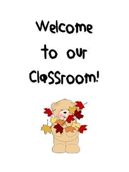 Fall Classroom Decor