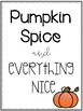 Fall Classroom Posters