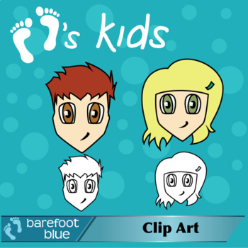 Manga (Anime) Kids Clip Art