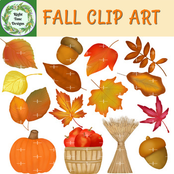 Clip Art Fall Themed Series by Right Time Designs   TpT