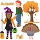 Free Fall Clip Art - Autumn