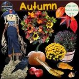 Fall Clip Art Autumn Photo & Artistic Digital Stickers